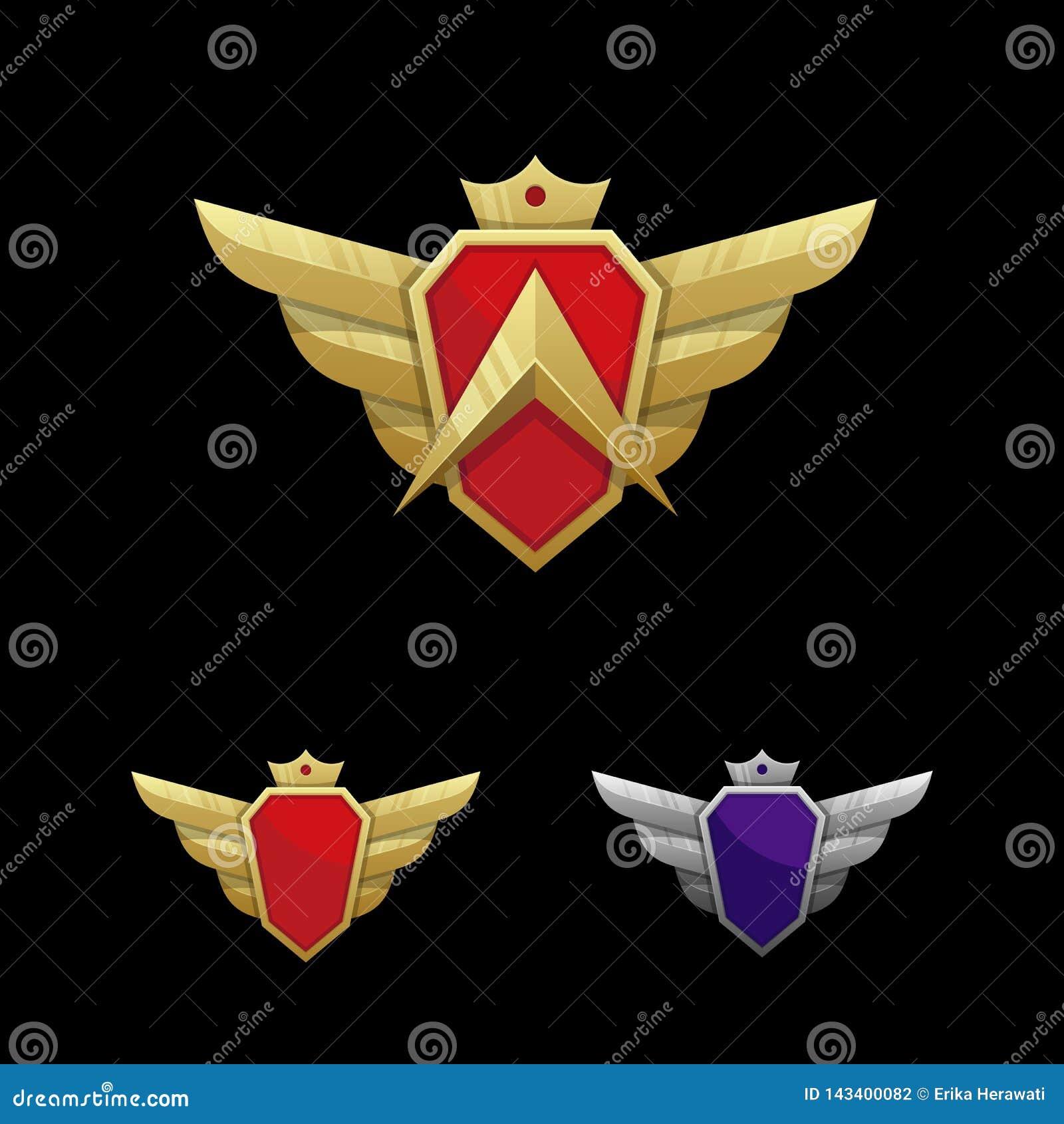 Wing Emblem Illustration Vector Template
