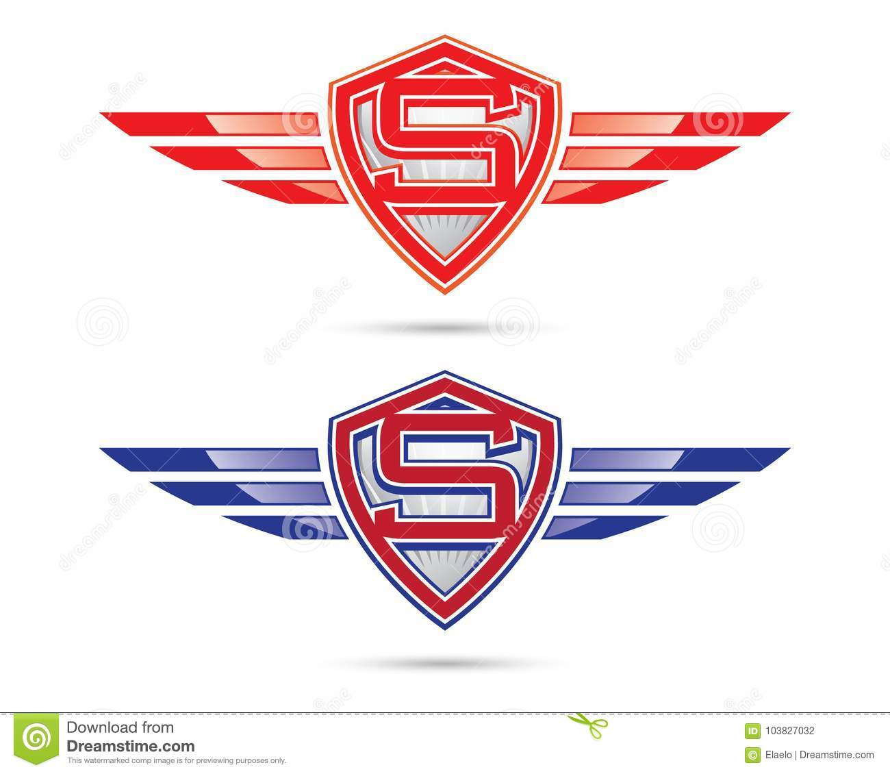 Wing Logo Symbol With S Letter Stock Vector Illustration Of Letter