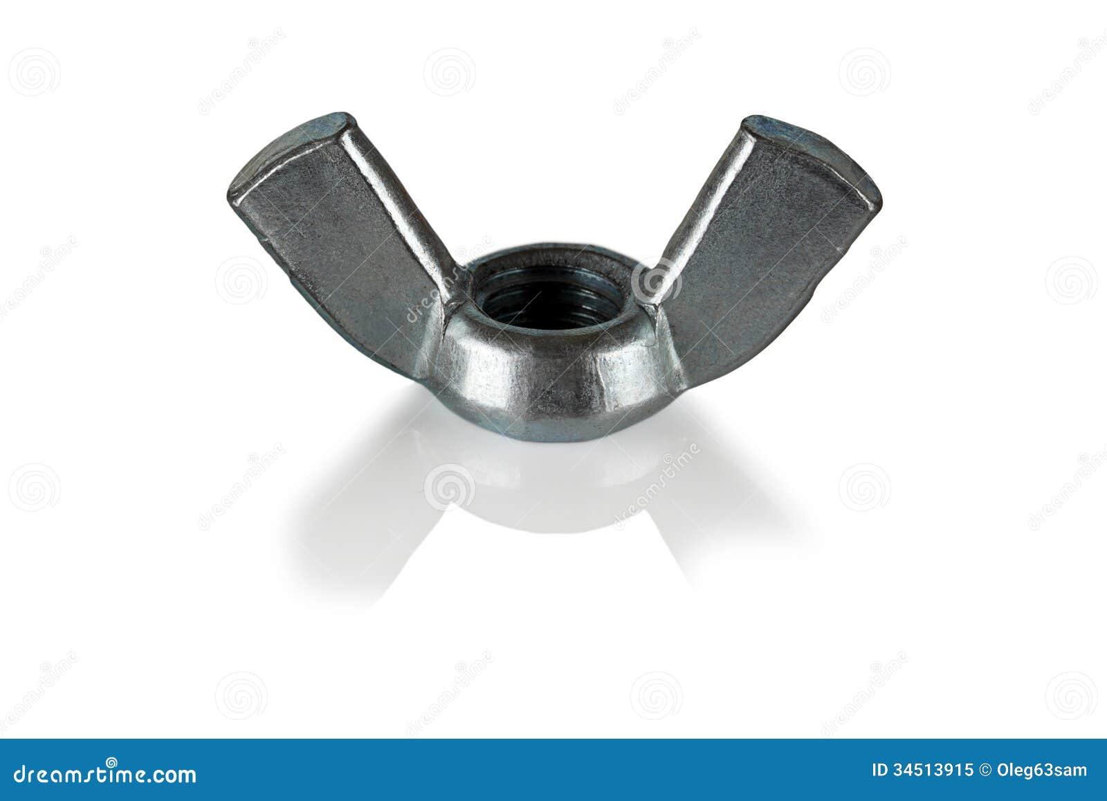 Wing nut stock image of machine reflective