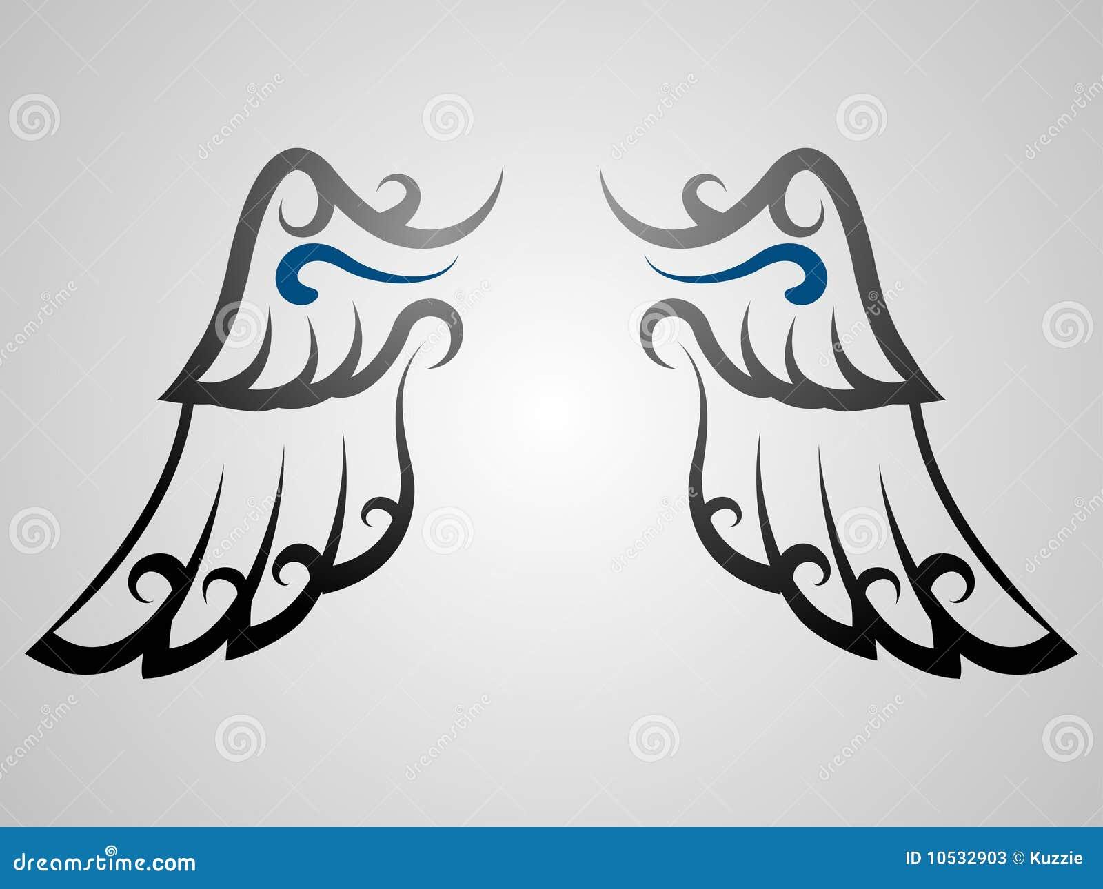 Wing Tattoo Stock Vector Illustration Of Curl Flight 10532903