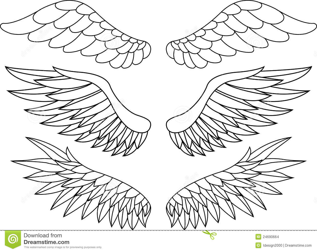 Wing tattoo stock illustration Illustration of decorative 24690664