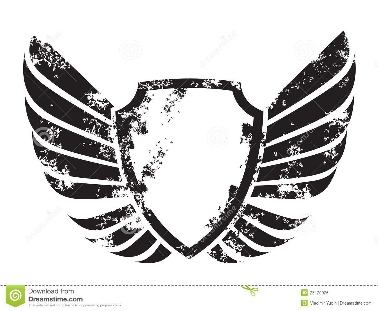 Winged Crest Royalty Free Stock Image - Image: 25120926