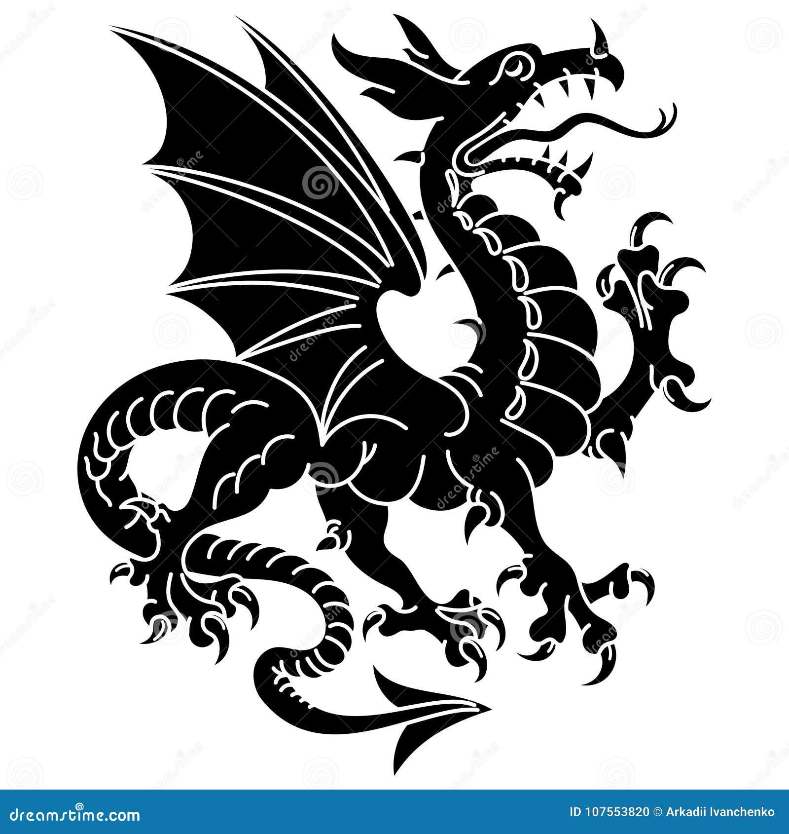 Dragon Heraldry: Eagle Heraldry Coat Of Arms Cartoon Vector