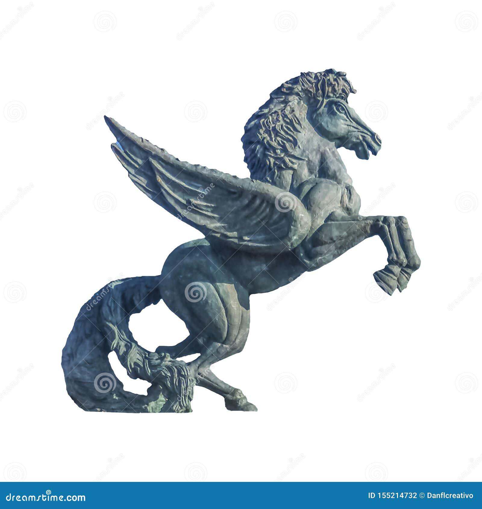 Winged Horse Sculpture Isolated Photo Stock Photo Image Of Freedom Horse 155214732