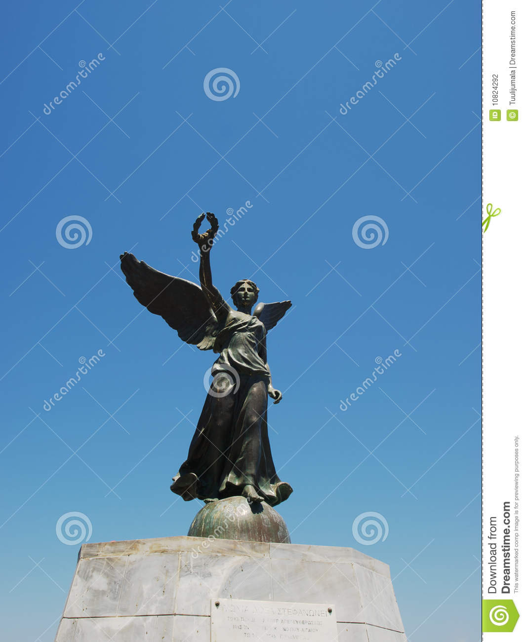 Winged Nike Statue Stock Photo Image Of Holidays Outdoor 10824292