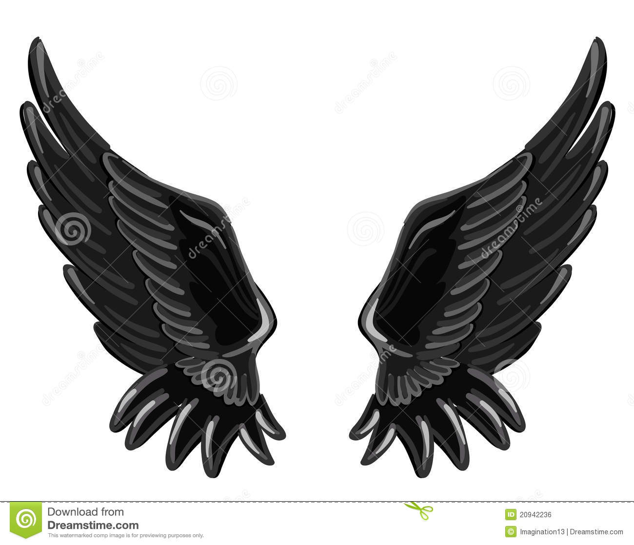 The Wings Of A Fallen Angel Royalty Free Stock Image - Image: 20942236
