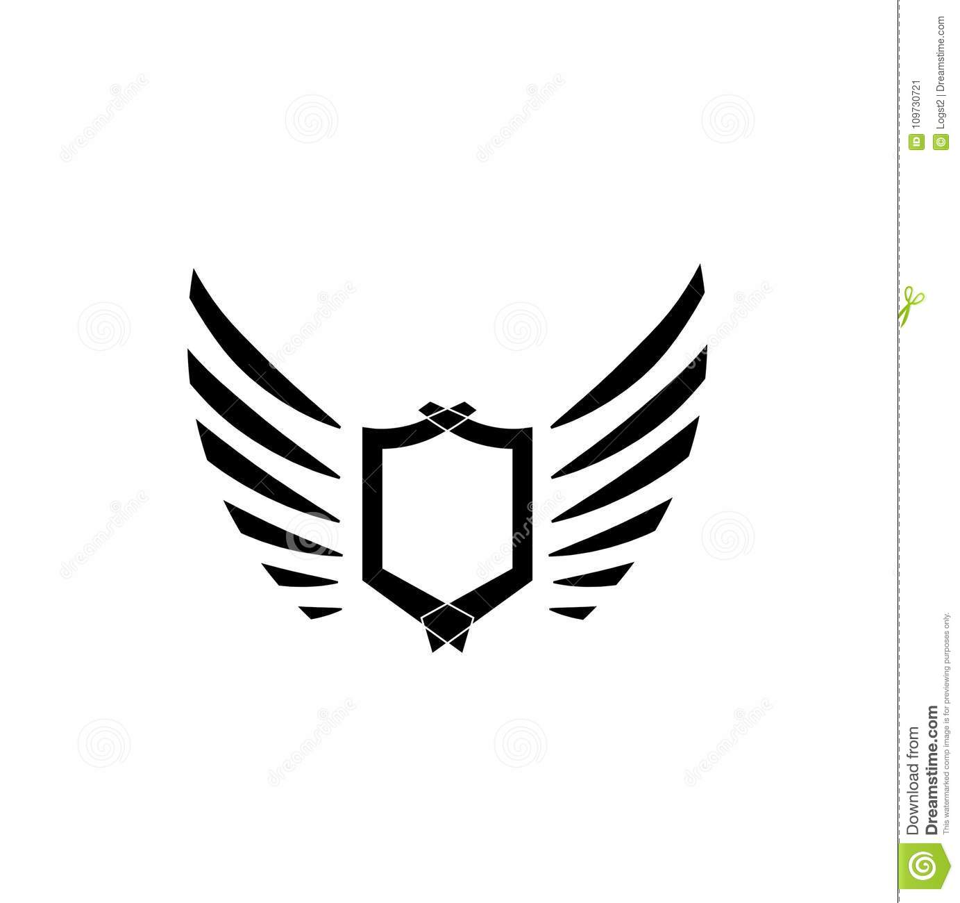 Wings Logo Vector Icon Sign Graphic Illustration Symbol Eagle