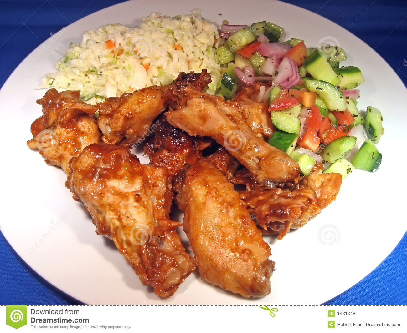 Wings and sides royalty free stock photos image 1431348 for What sides go with barbecue chicken