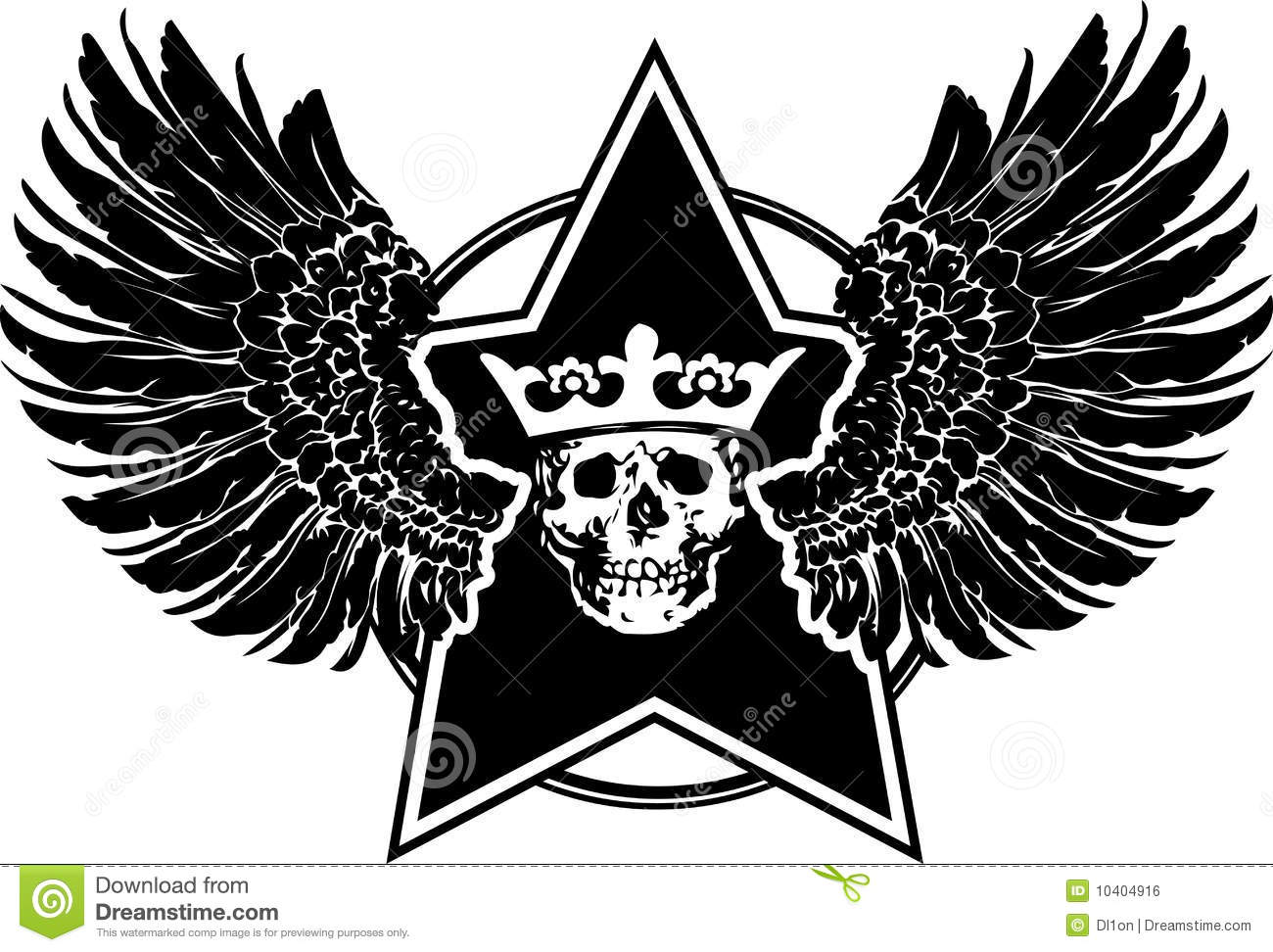Wings Star And Skull Sign Royalty Free Stock Image Image 10404916