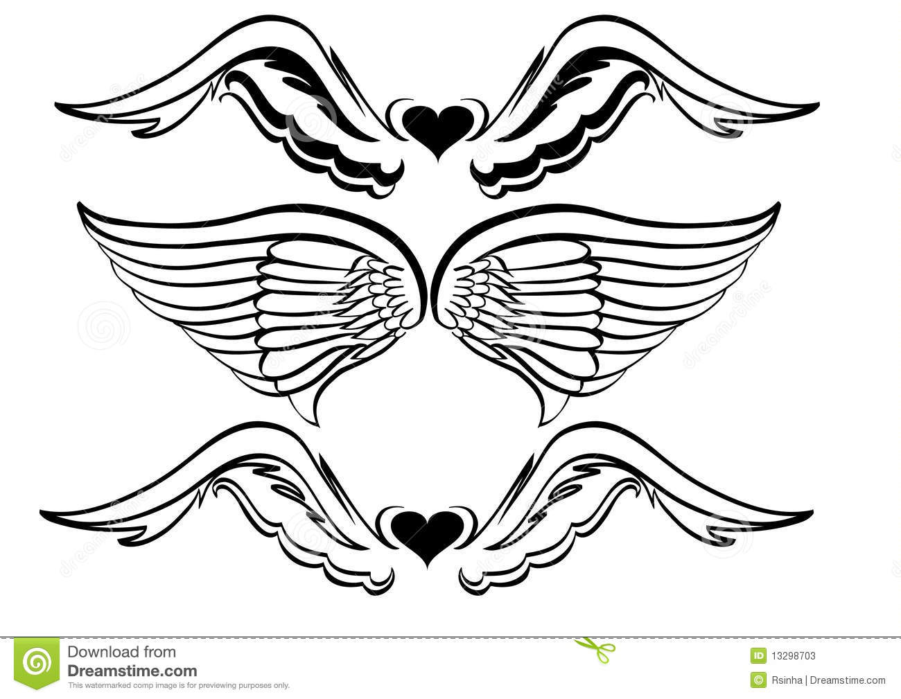 Wing tattoo design - Royalty Free Stock Photo Download Wings Tattoo Design