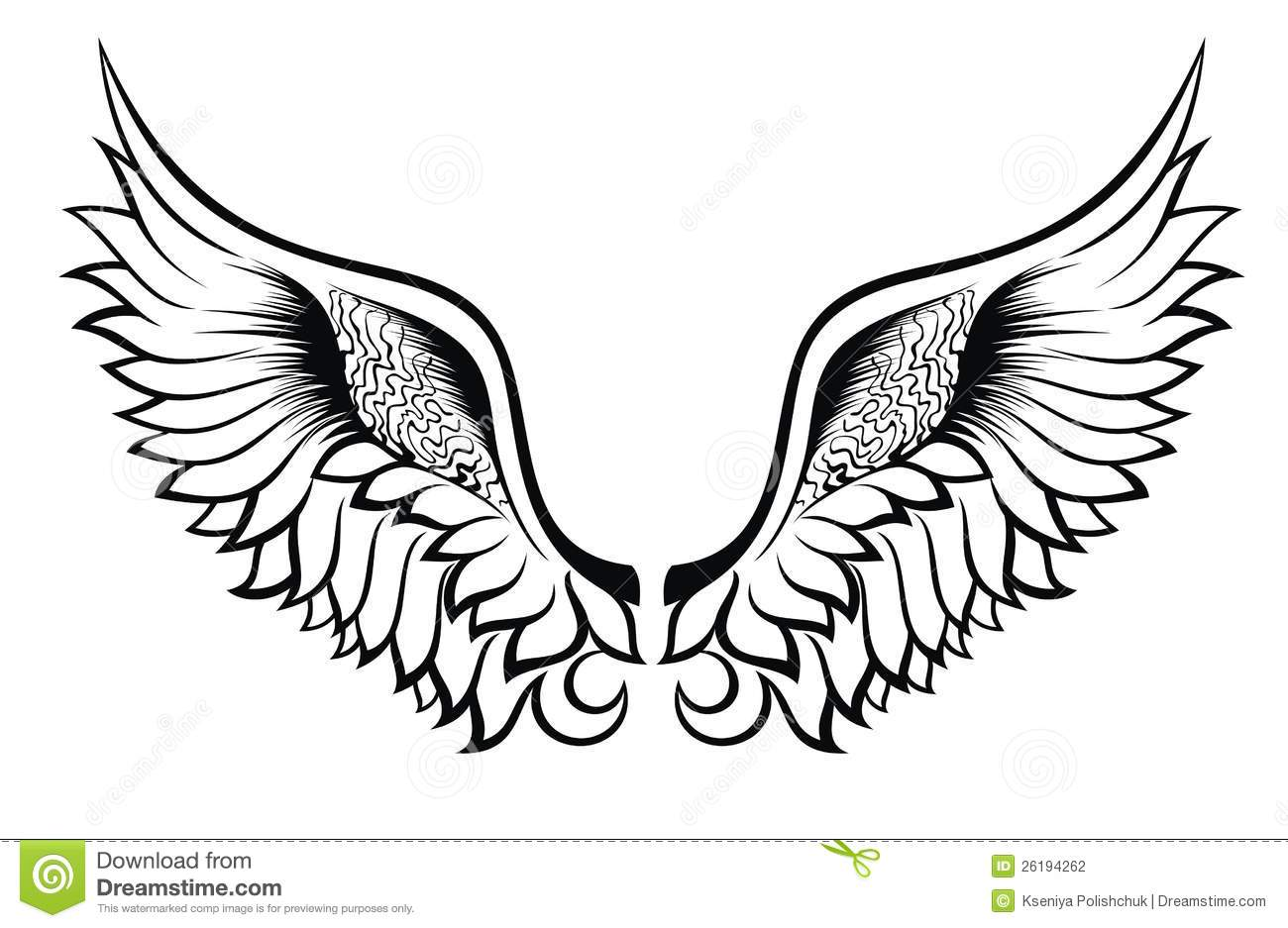 Wing tattoo design - Wings Tattoo Design Stock Photography