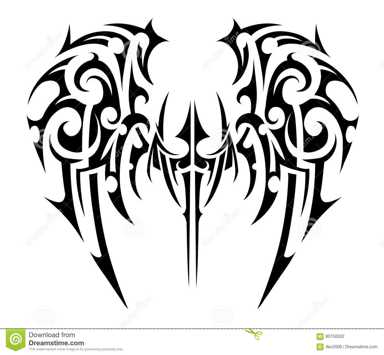 Wings Tattoo Tribal Art Stock Vector Illustration Of Collection