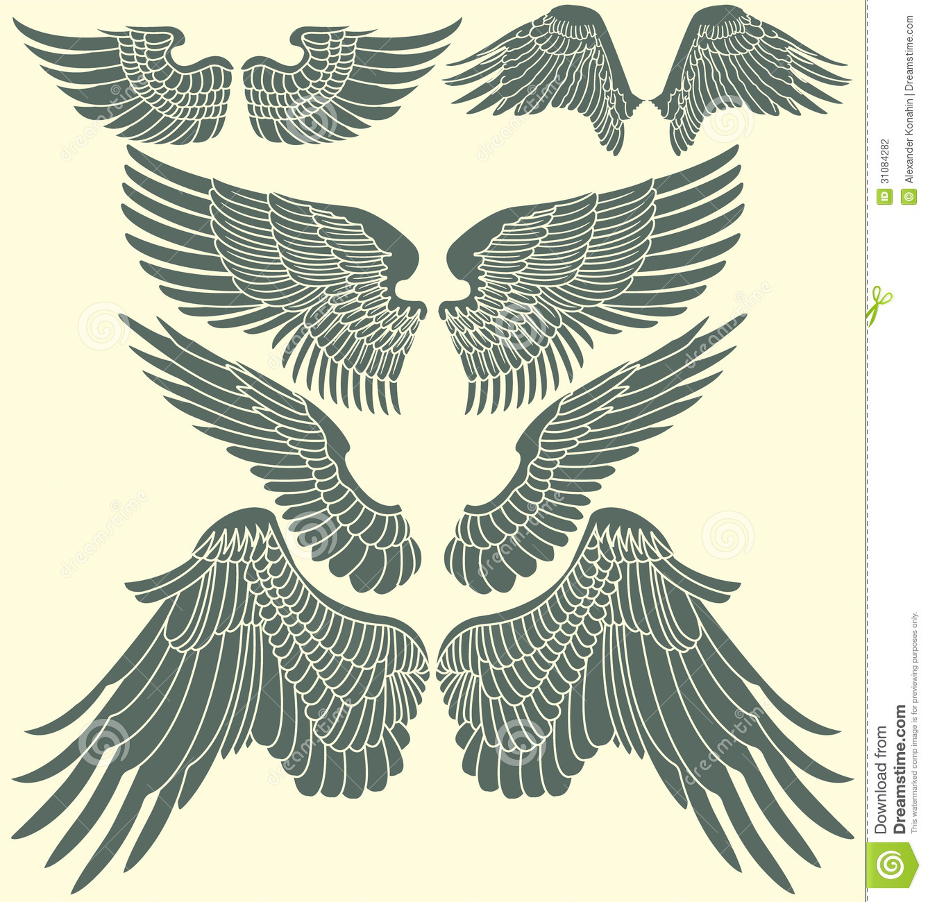 Wings Tribal Set Stock Photography - Image: 31084282