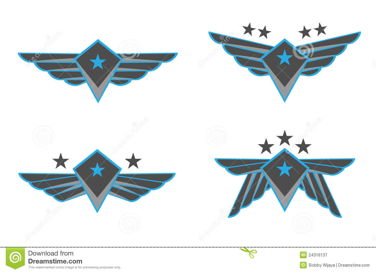 Royalty Free Stock Photography Wings Vector Illustration Image24316137
