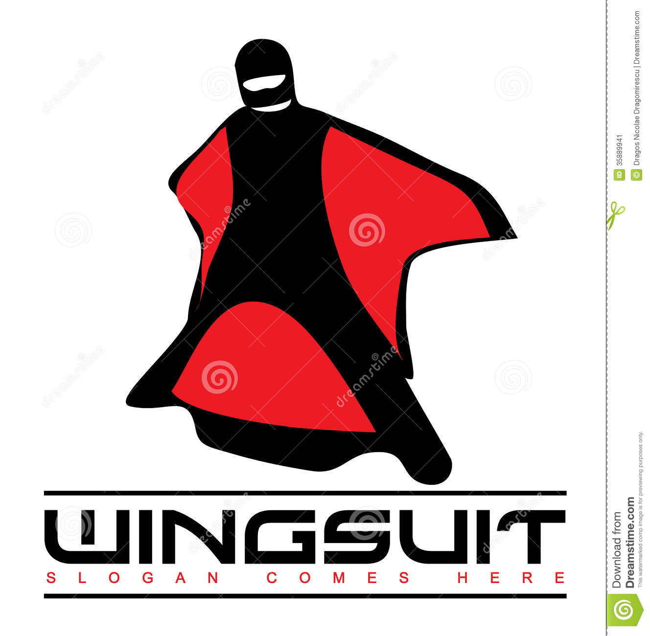 Wingsuit Logo Stock Image - Image: 35889941 Eagle Silhouette Vector
