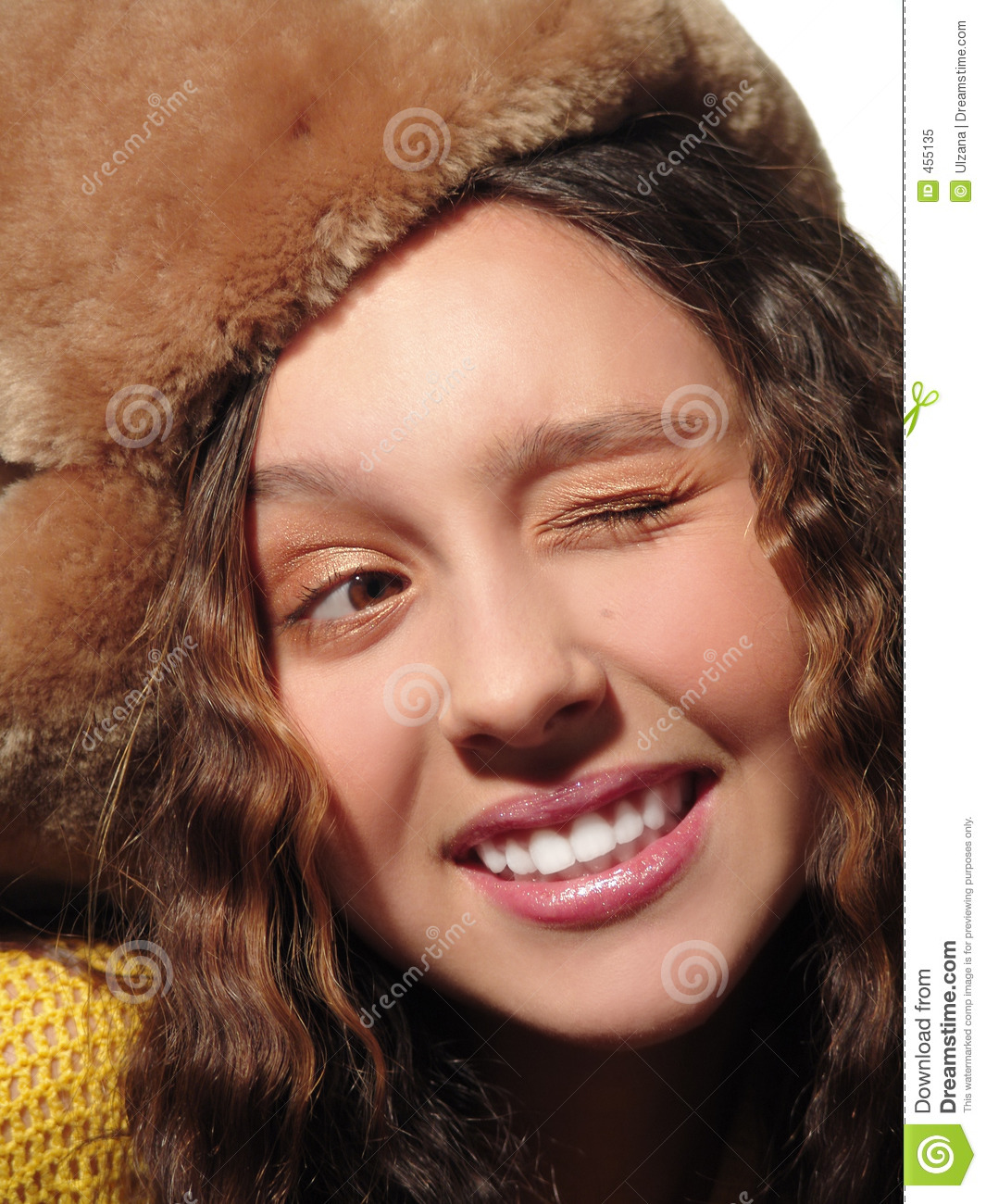 Download Wink! stock image. Image of hairs, youth, teeth, wink, pretty - 455135