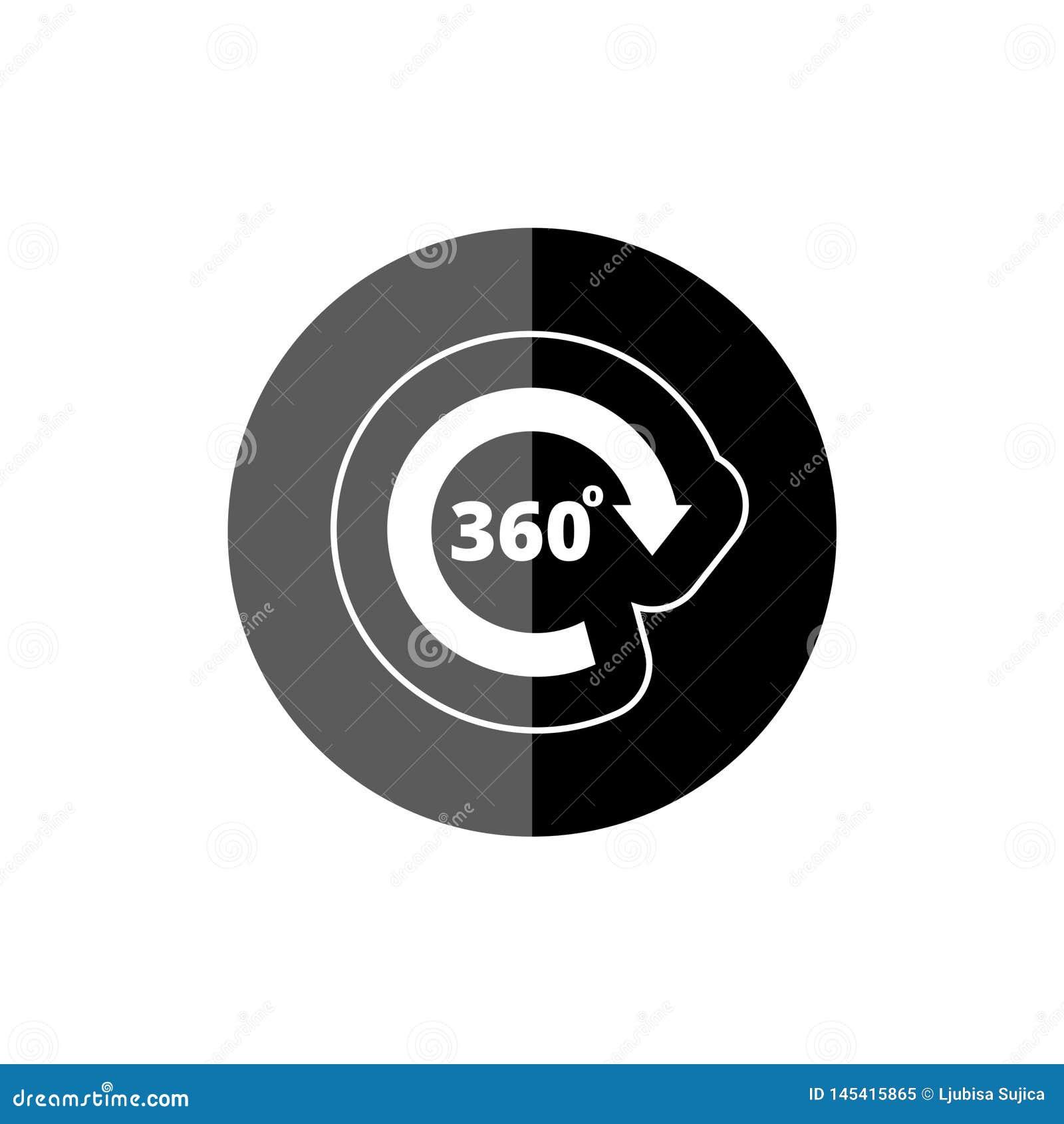 Winkel 360-Grad-Ikone