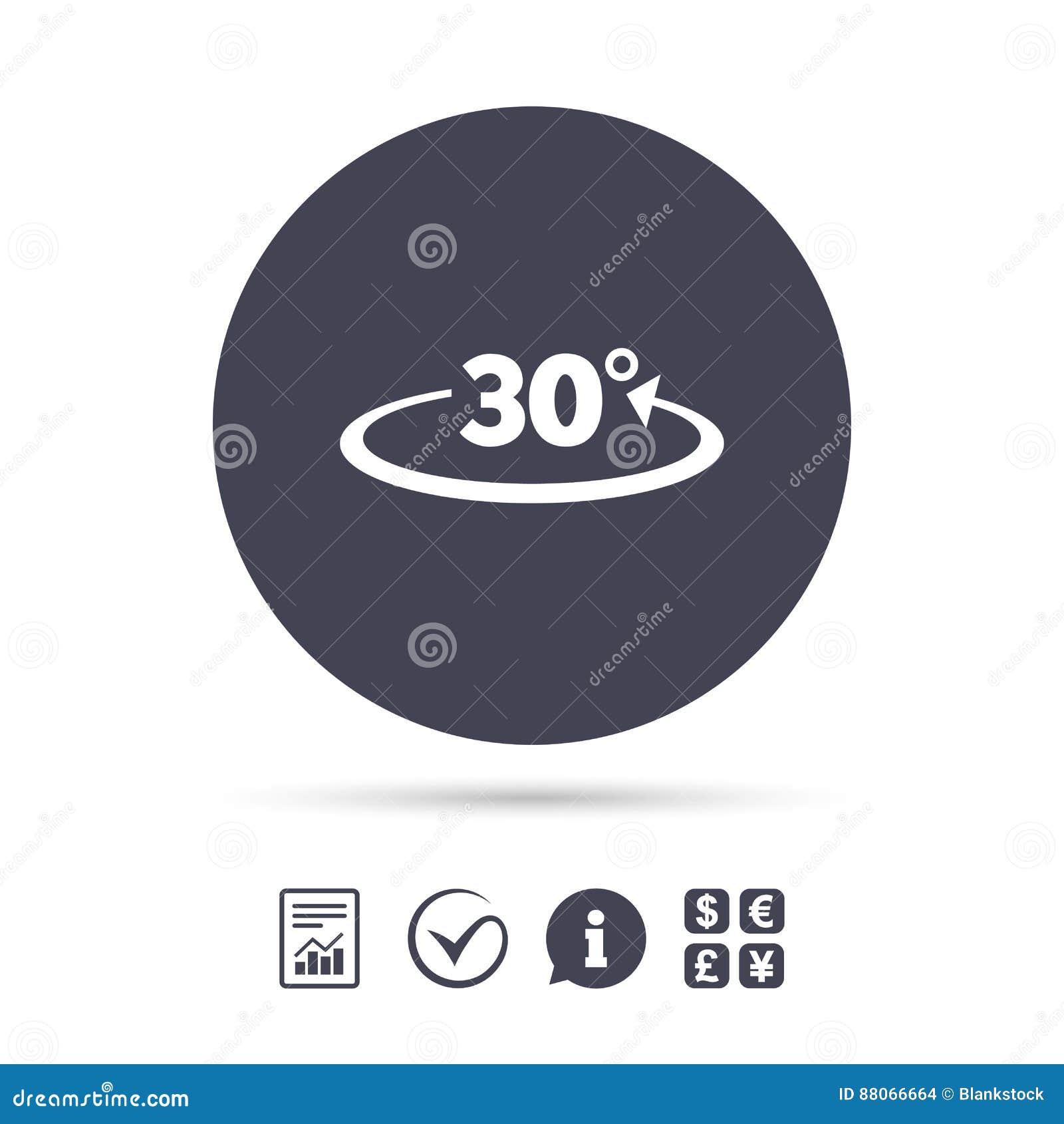 winkel 30 grad zeichenikone geometriemathesymbol vektor abbildung