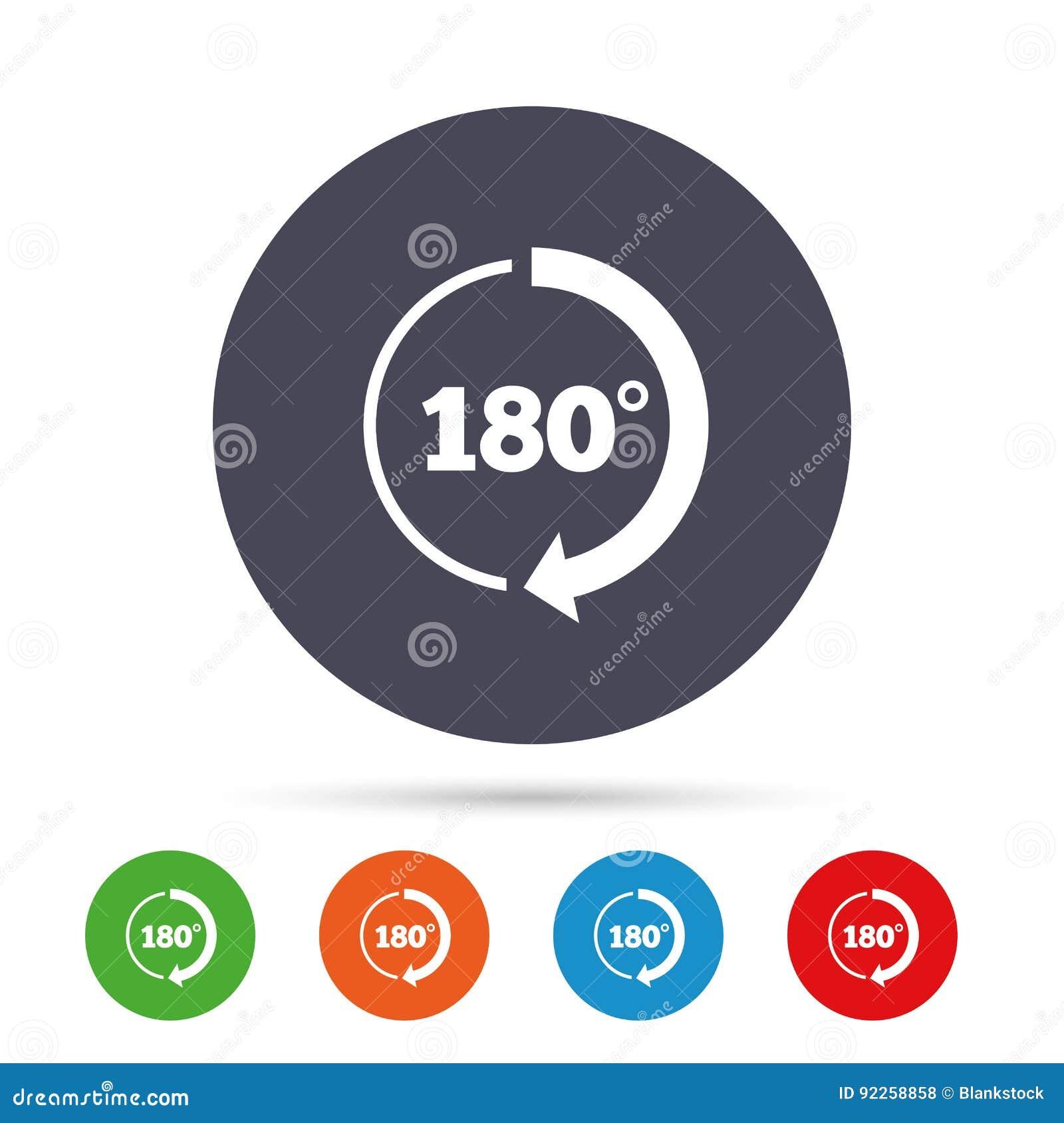 Winkel 180 Grad Zeichenikone Geometriemathesymbol