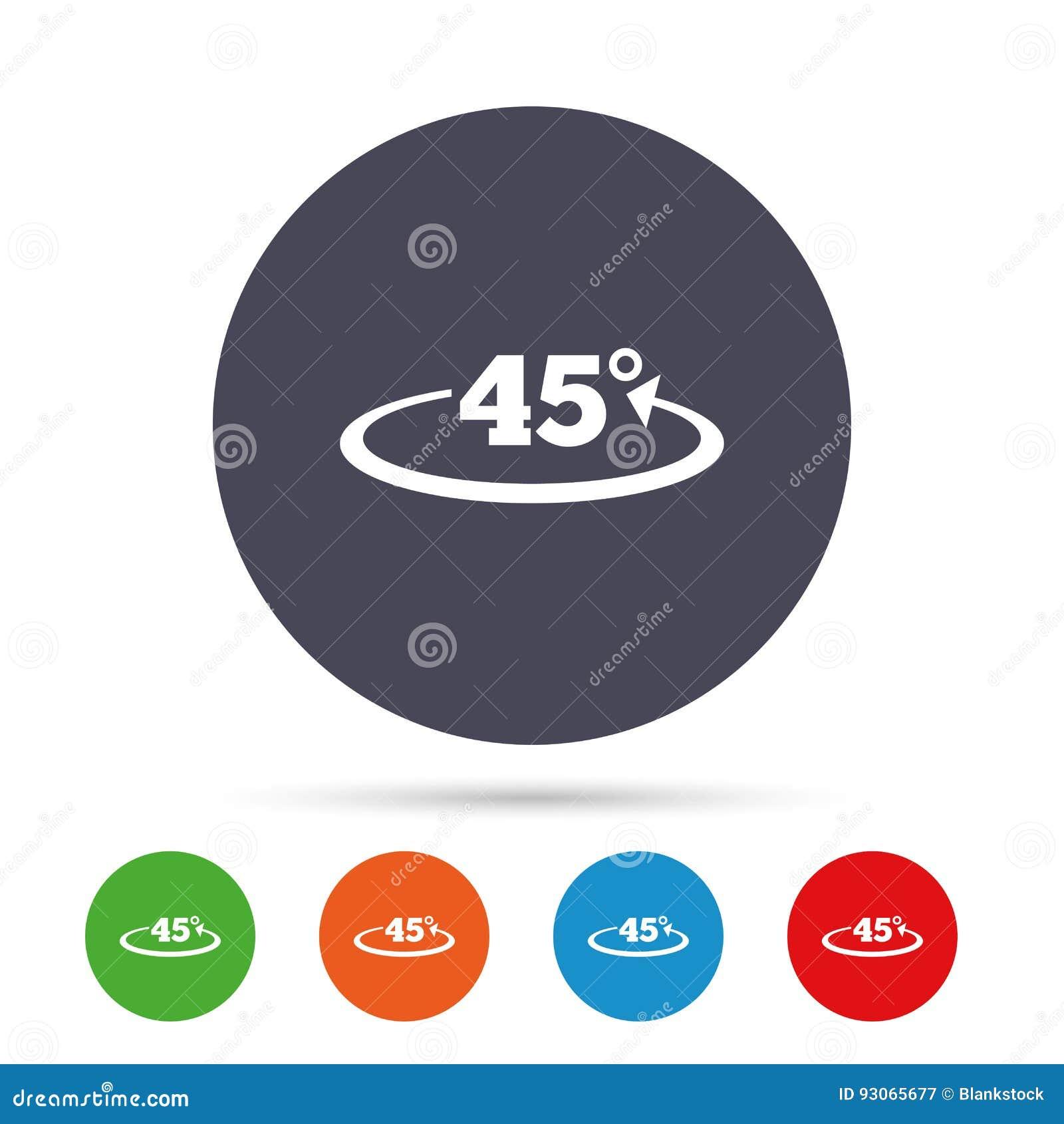 winkel 45 grad zeichenikone geometriemathesymbol vektor abbildung