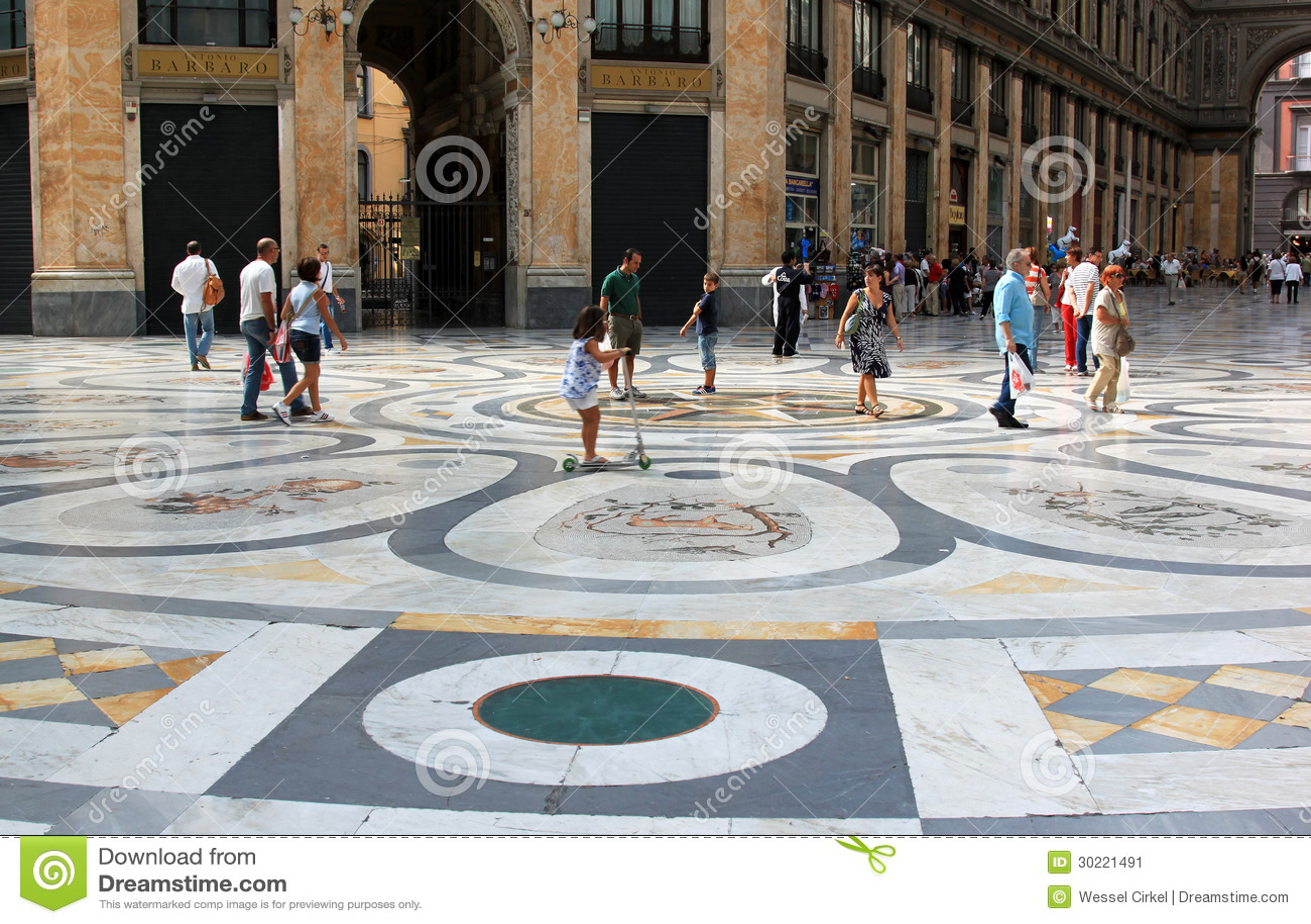 Winkelcentrum Galleria Umberto, Napels, Italië