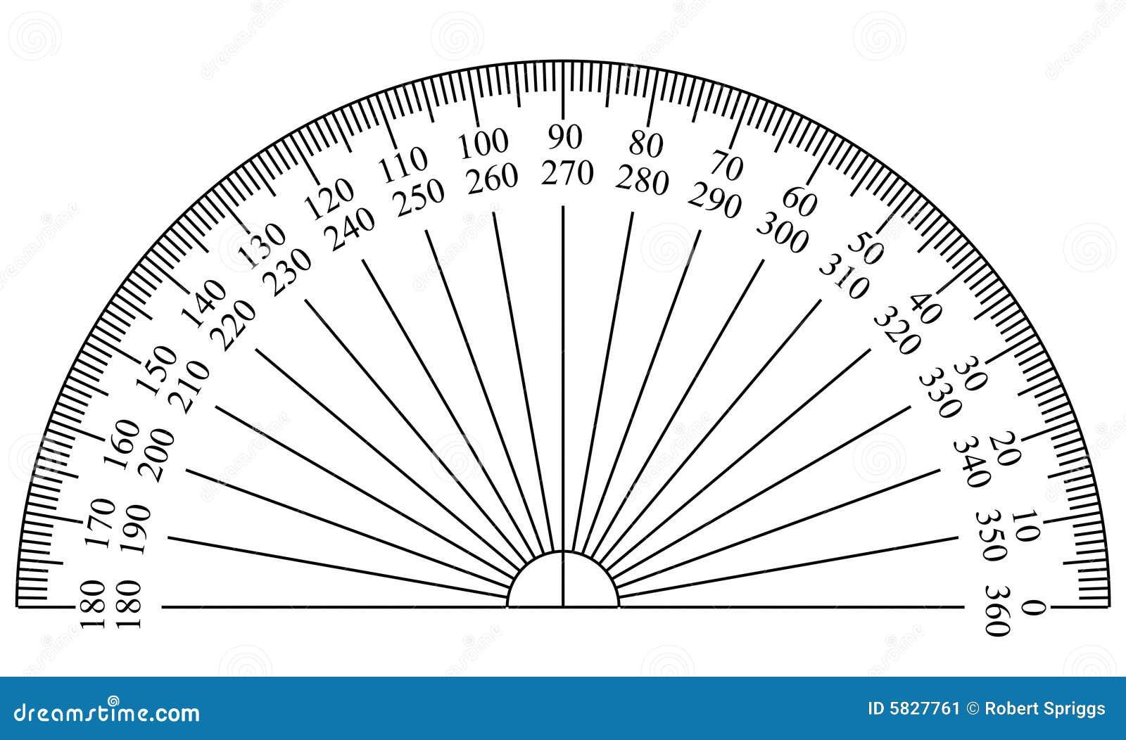 Winkelmesser-Schablone stock abbildung. Illustration von lichtpause ...