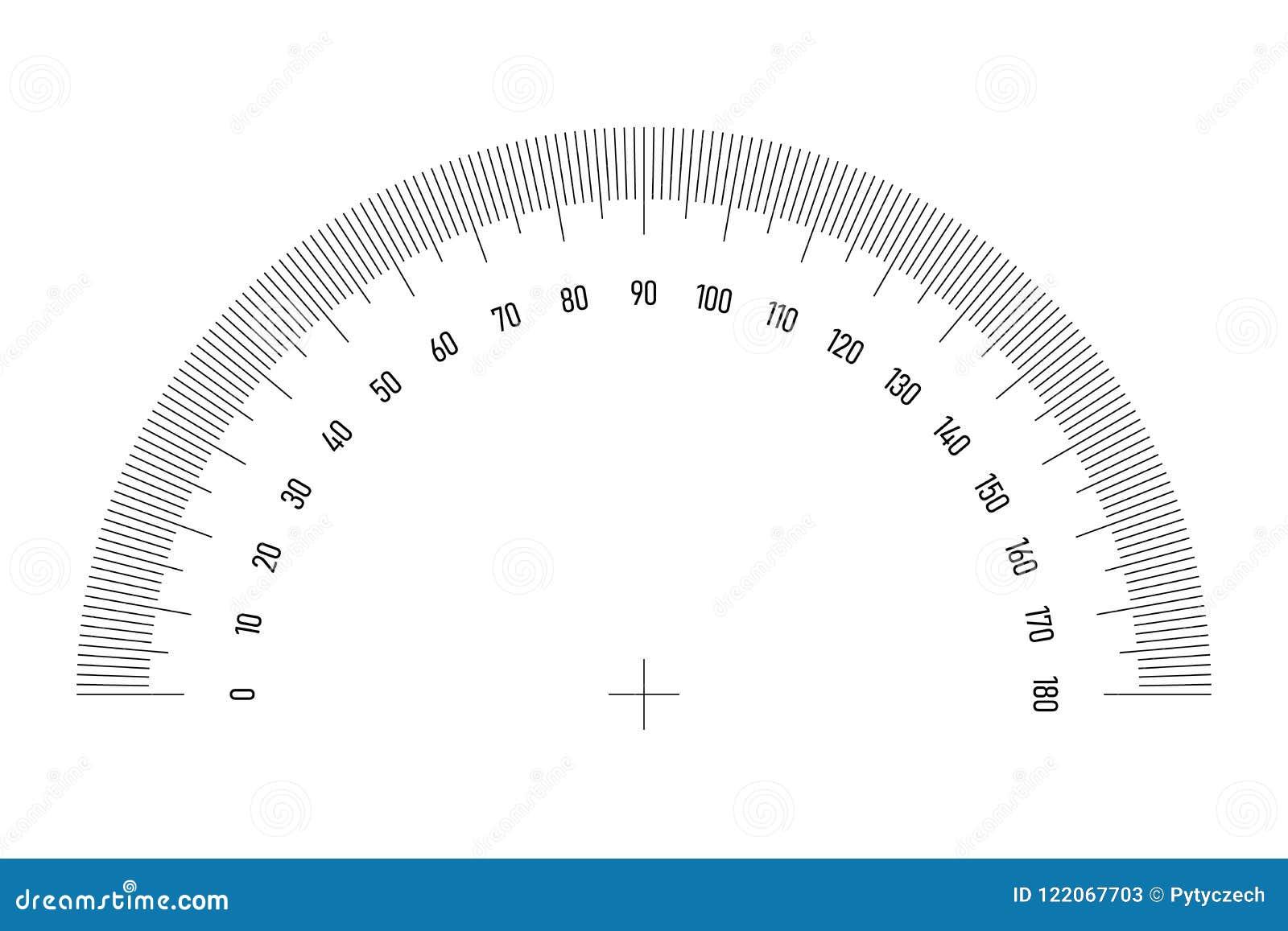 winkelmessergitter für messenden winkel oder neigung 180 grad skala