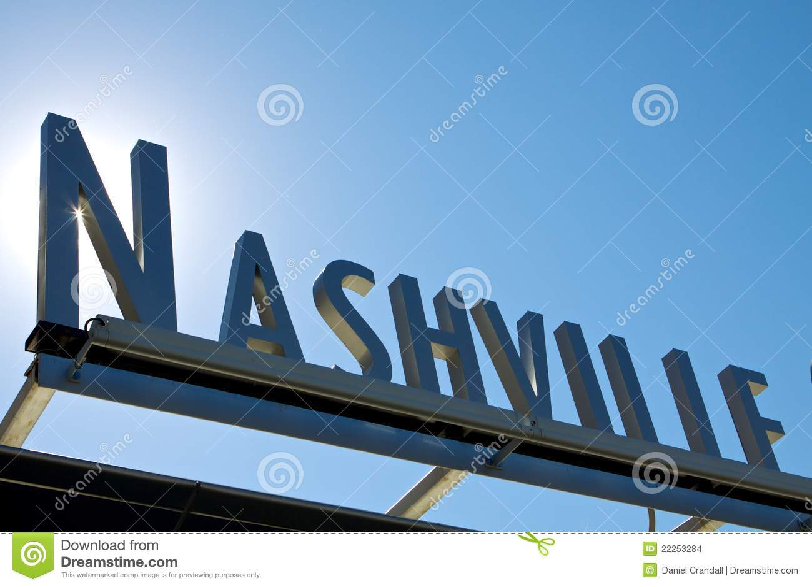Winkelsonne des Nashville-Zeichens 3D