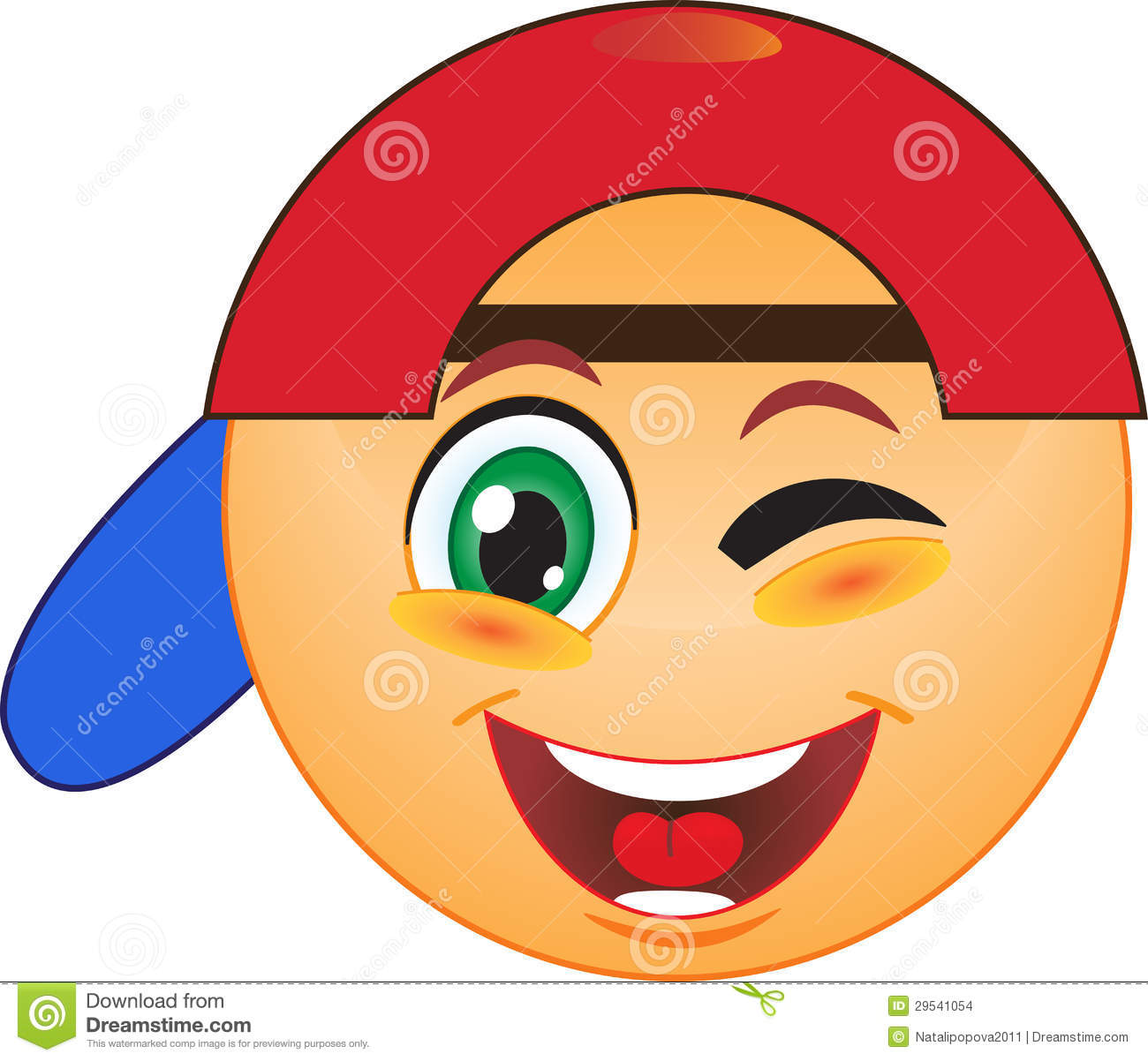 Winking Smiley Stock Images Image 29541054