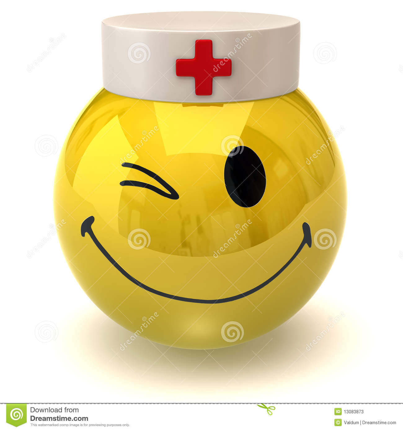 Winking Smiley Nurse Stock Photos Image 13083873