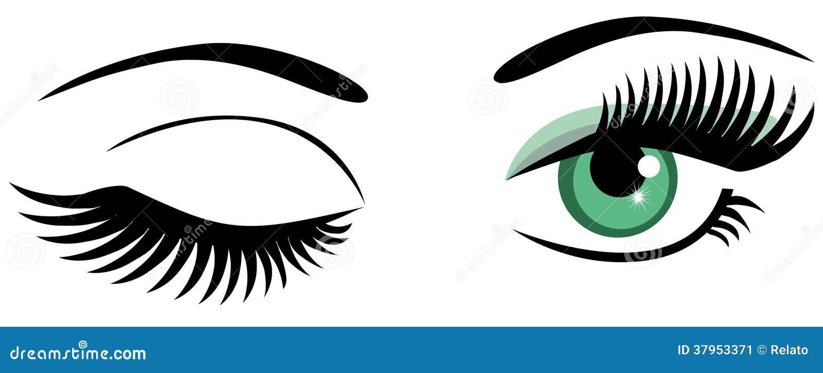 winking stock vector illustration of blue graphic abstract 37953371 rh dreamstime com Cartoon Winking Eye Large Winking Eye Clip Art