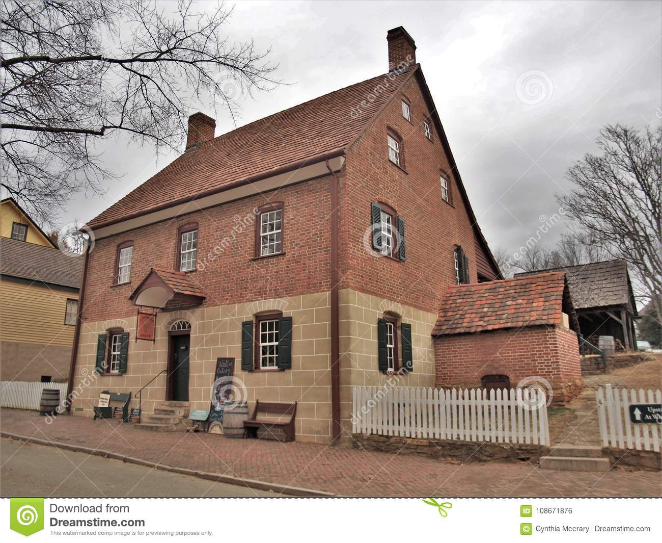Winkler`s Bakery In Old Salem Museum & Gardens Editorial Photo ...