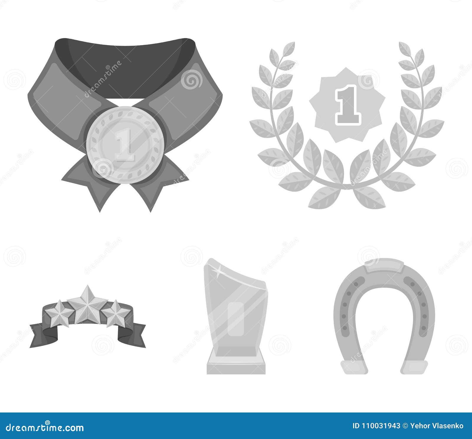 Winnaar voor de eerste plaats in de concurrentie, een kristalprijs, een lint met de sterren, een medaille op het rode lint