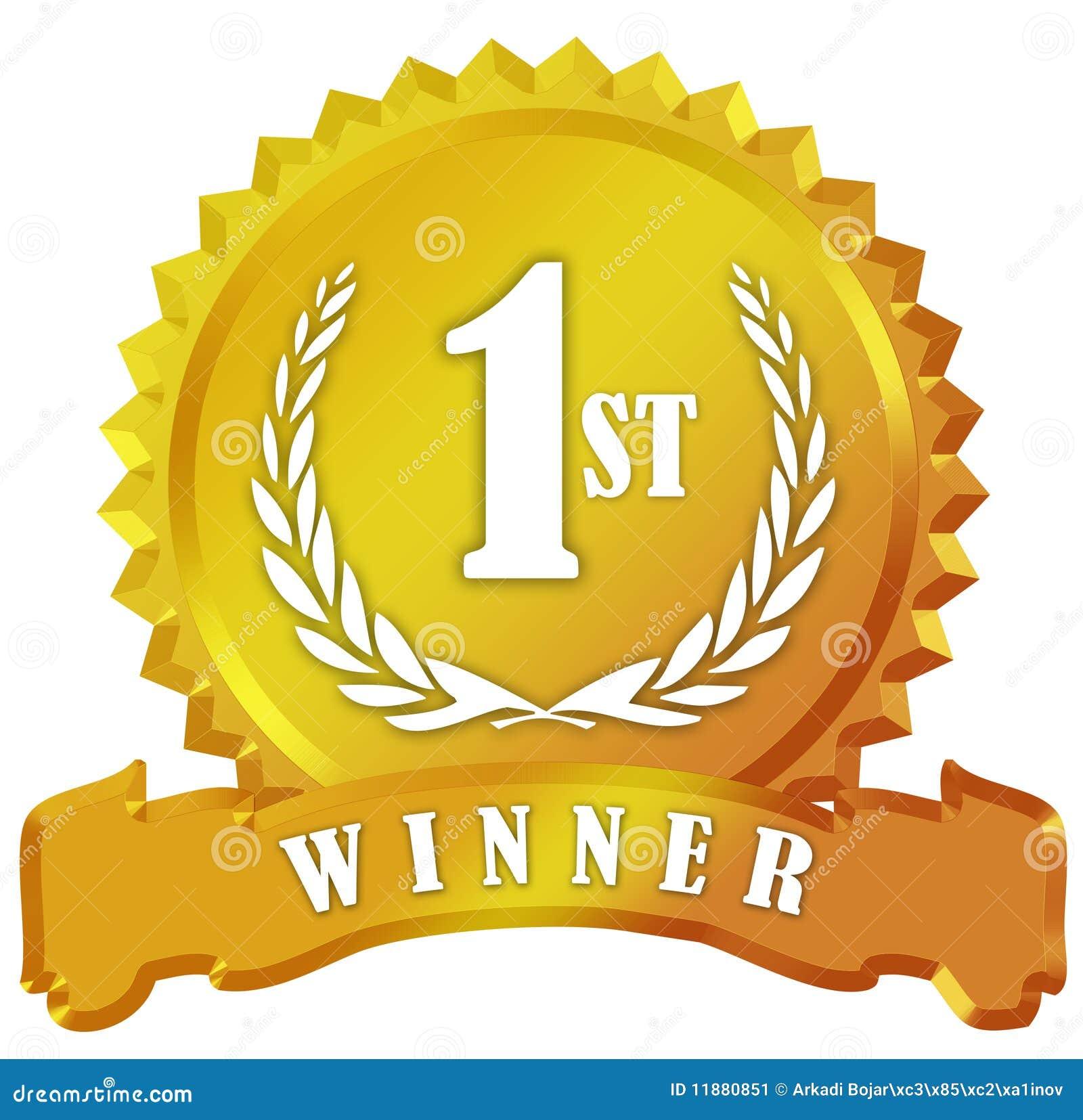 Winner Award Golden Sign Stock Image - Image: 11880851