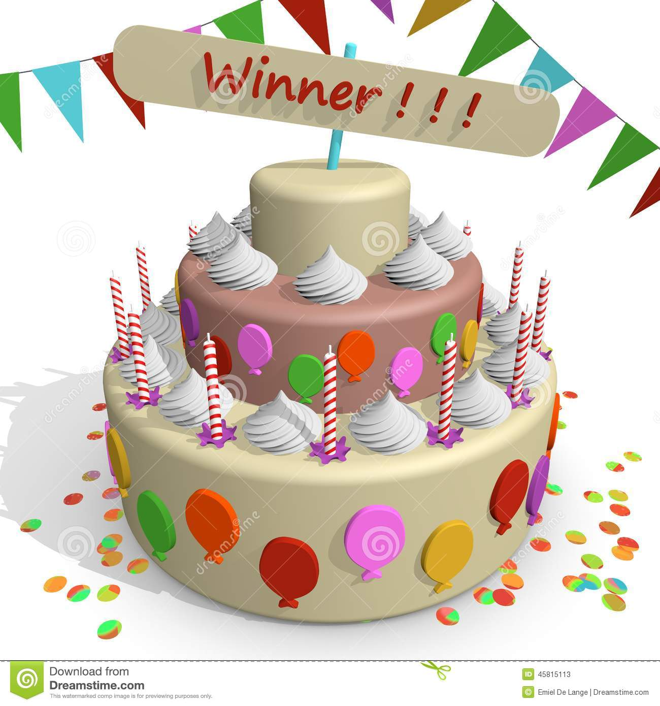 Winner Cake Stock Illustration Image 45815113