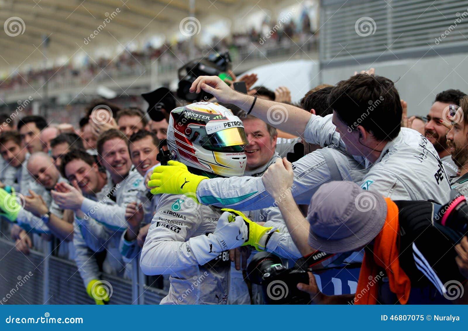 Winner Formula 1 Sepang Malaysia 2014 Editorial Image