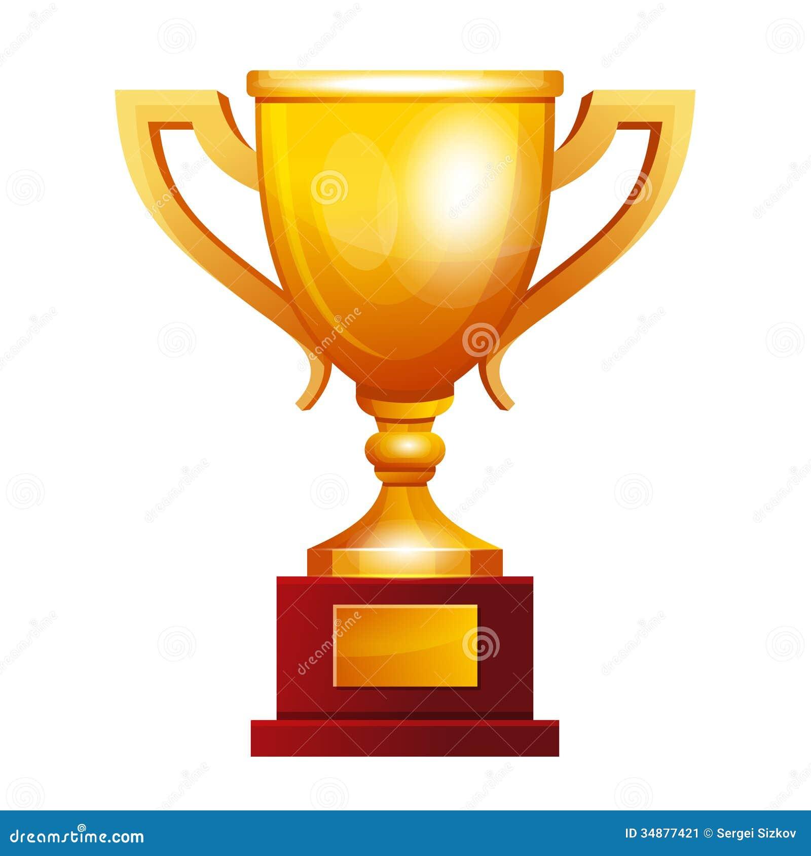Winner Golden Cup Stock Image - Image: 34877421
