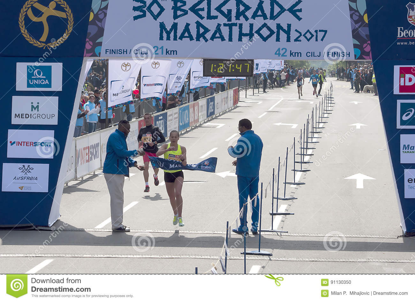 Winner of the half marathon for woman