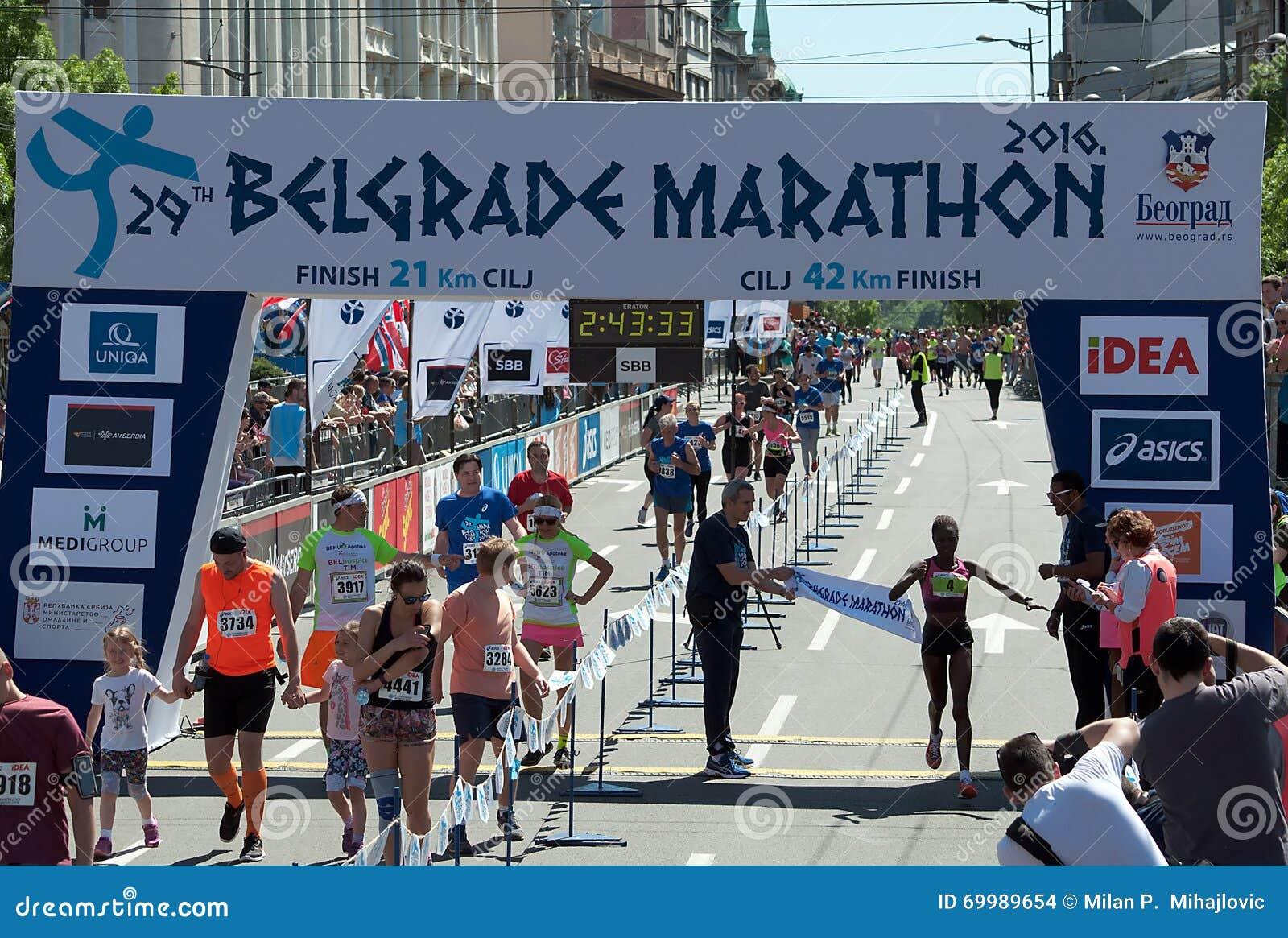 Winner of the marathon for woman