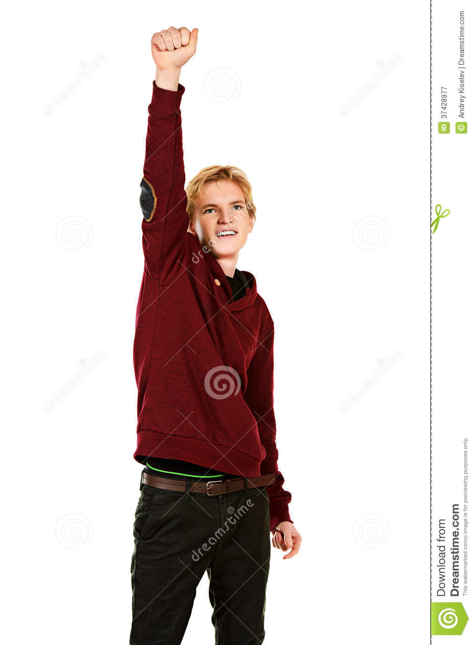 Winner Pose Royalty Free Stock Photography - Image: 37428977