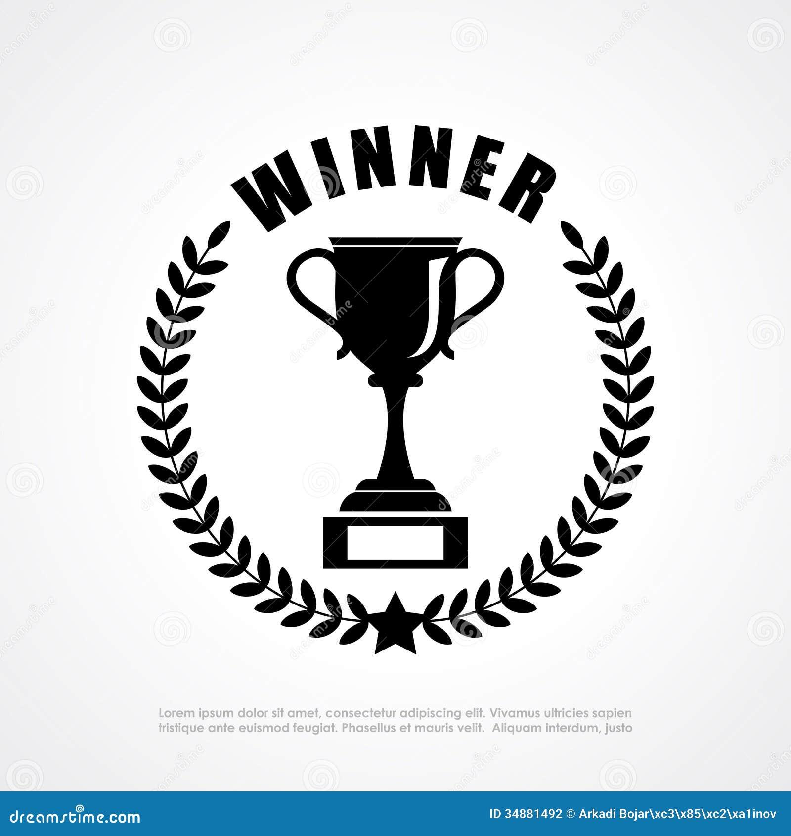 Winner retro emblem stock vector. Illustration of prize ...