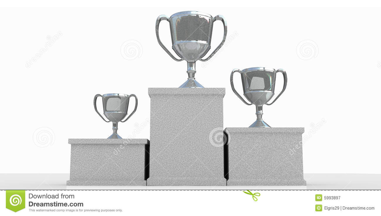 Winners Podium Winners podium Royalty Free