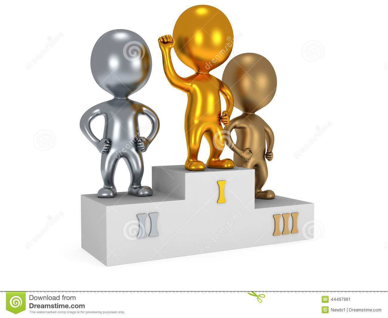 Winners On Sports Podium Isolated On White Stock Illustration - Image ...