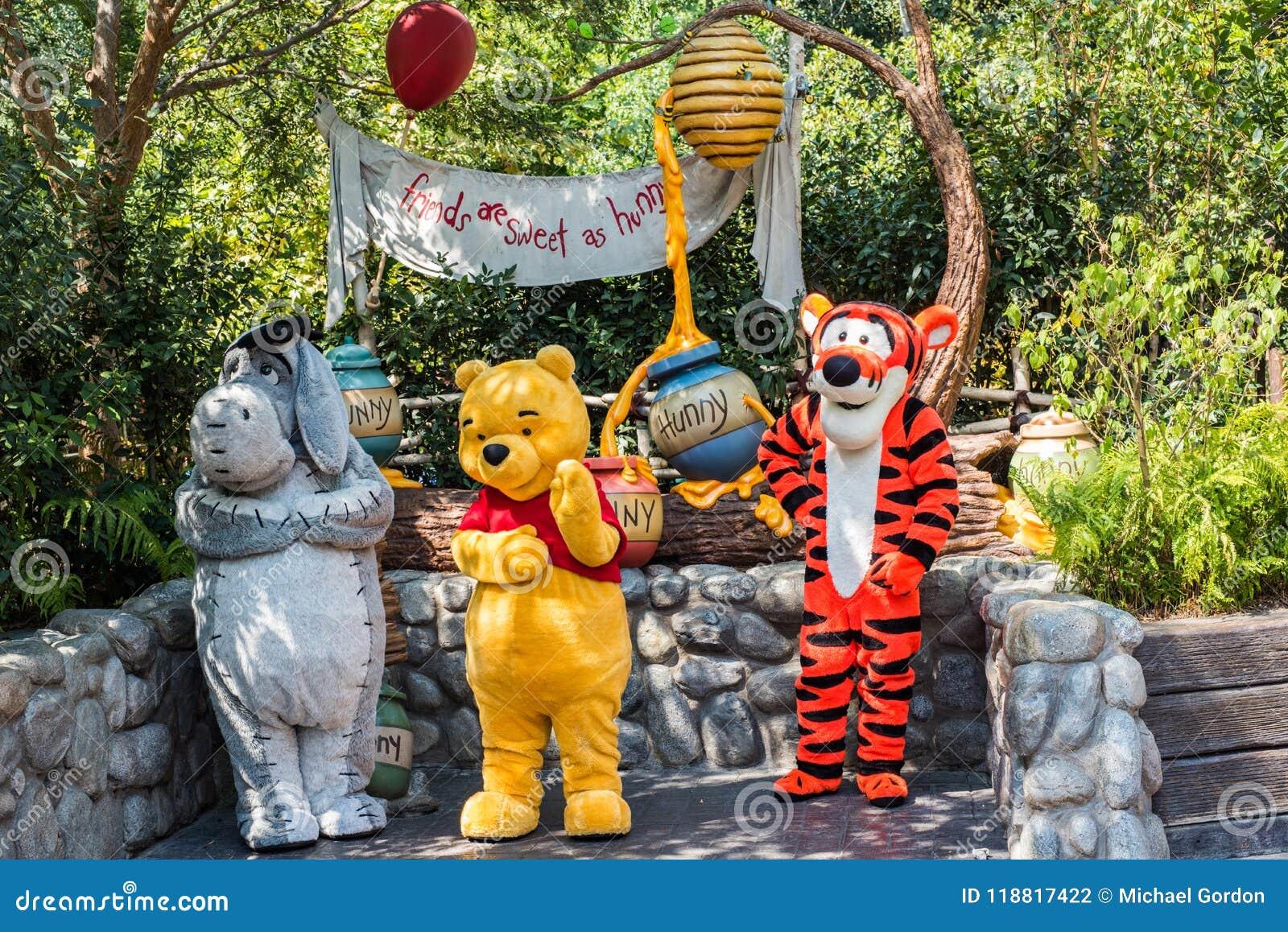 Winnie the Pooh & vänner på Disneyland i Anaheim, Kalifornien