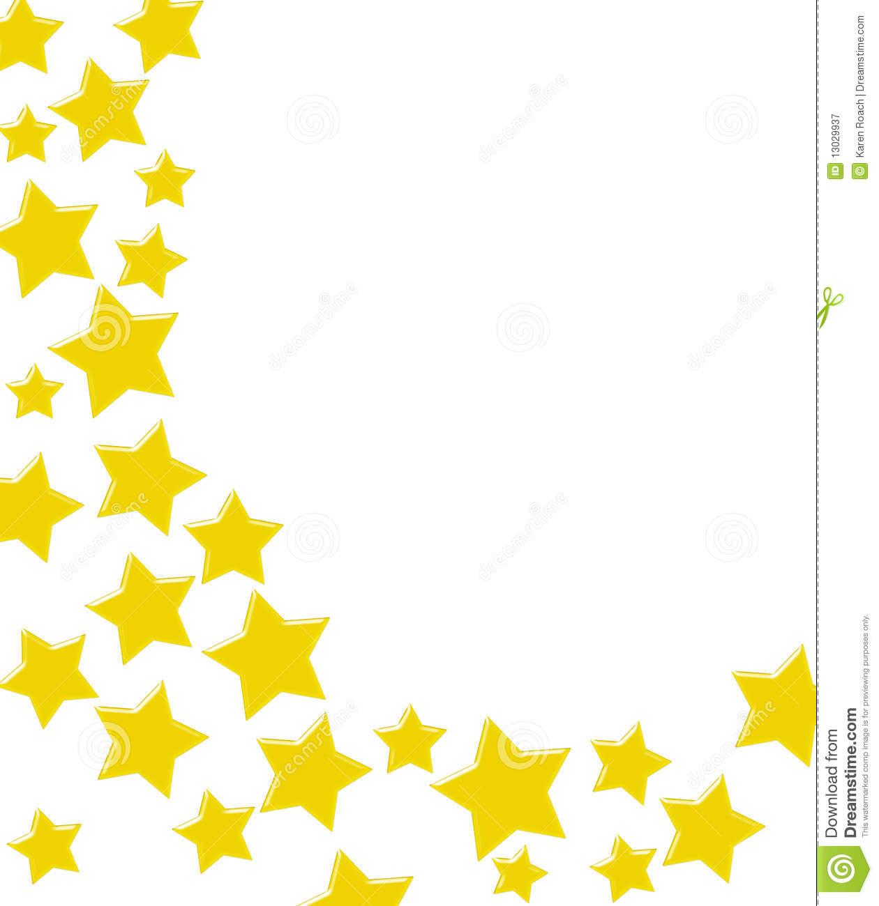 winning gold star border stock illustration illustration of yellow