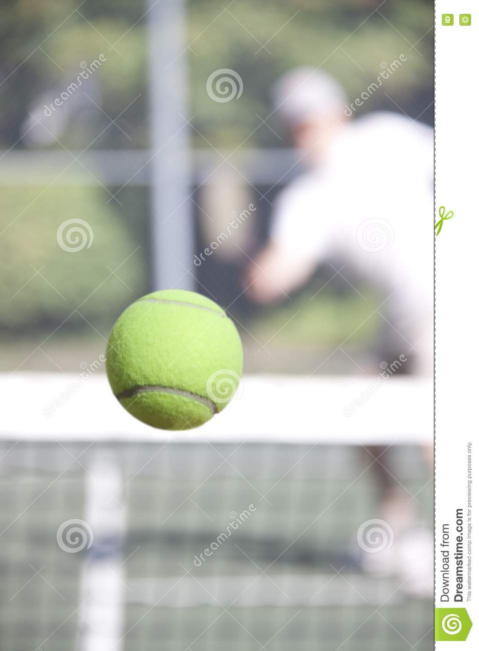 Winning Shot Right Down The Line Royalty Free Stock