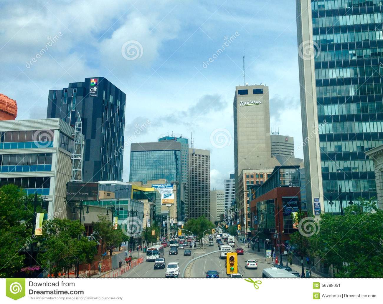 Winnipeg de stad in