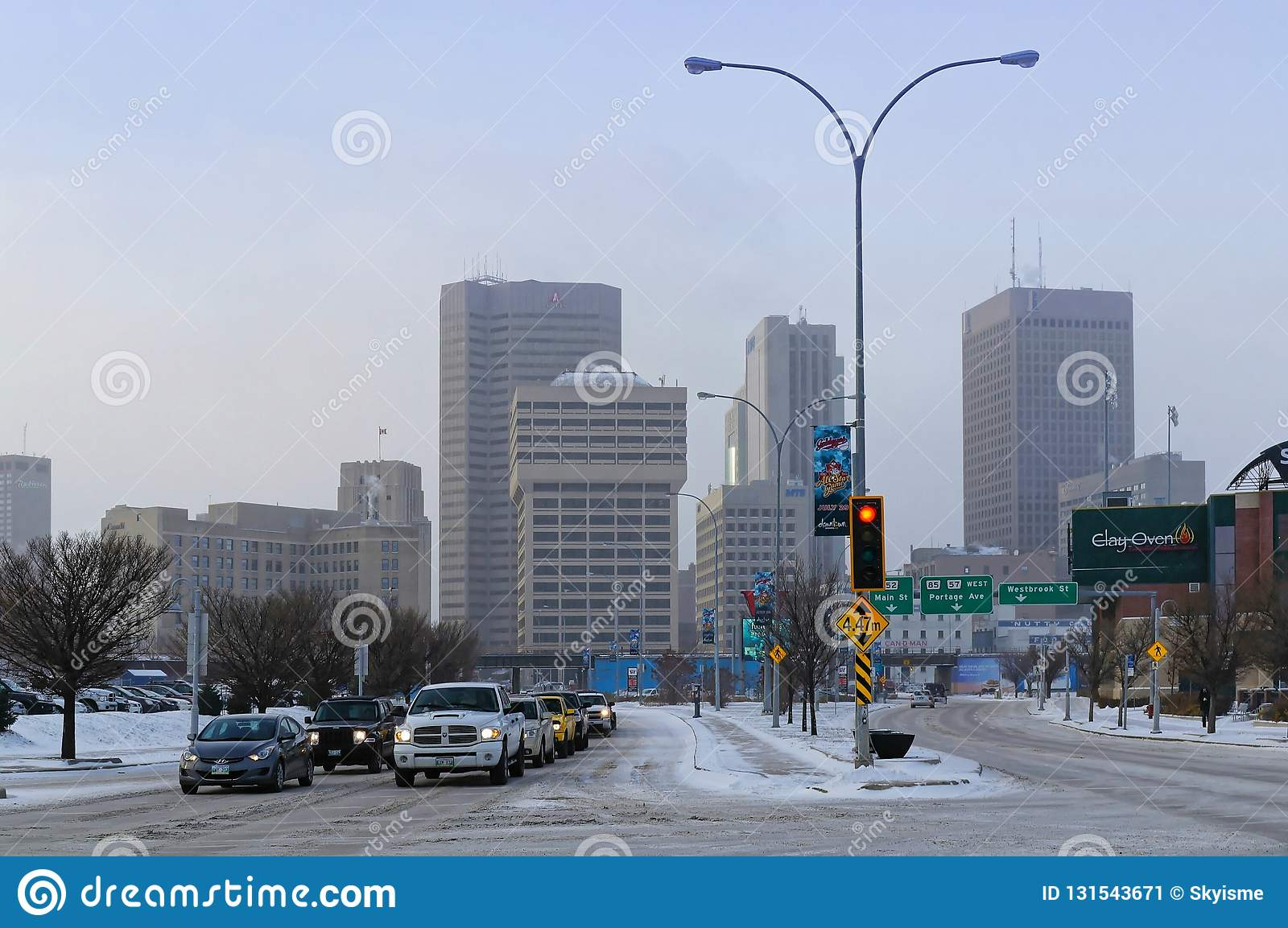 Winnipeg, Manitoba, Canada - 2014-11-18: Winnipeg Downtown