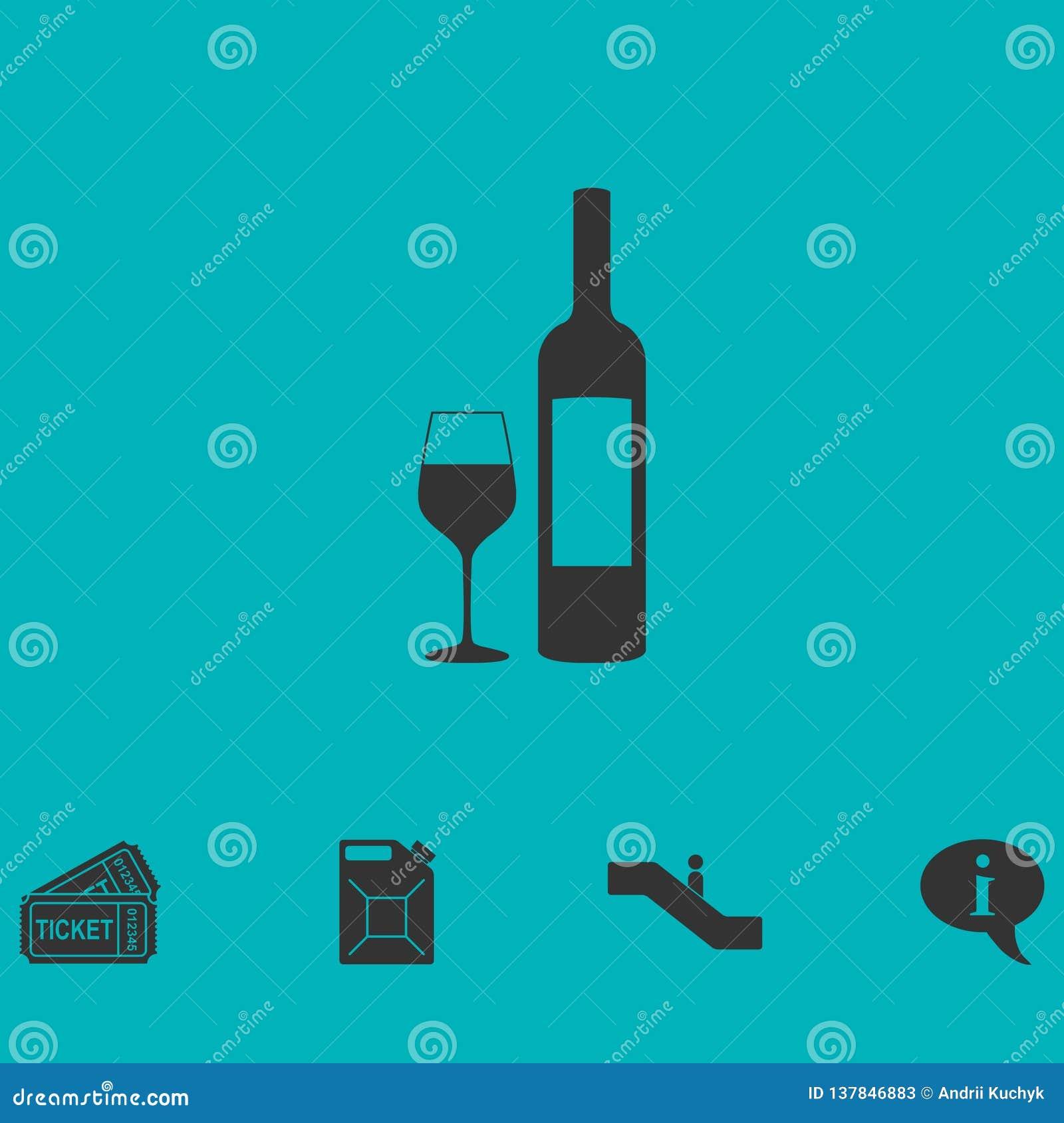 Wino ikony mieszkanie