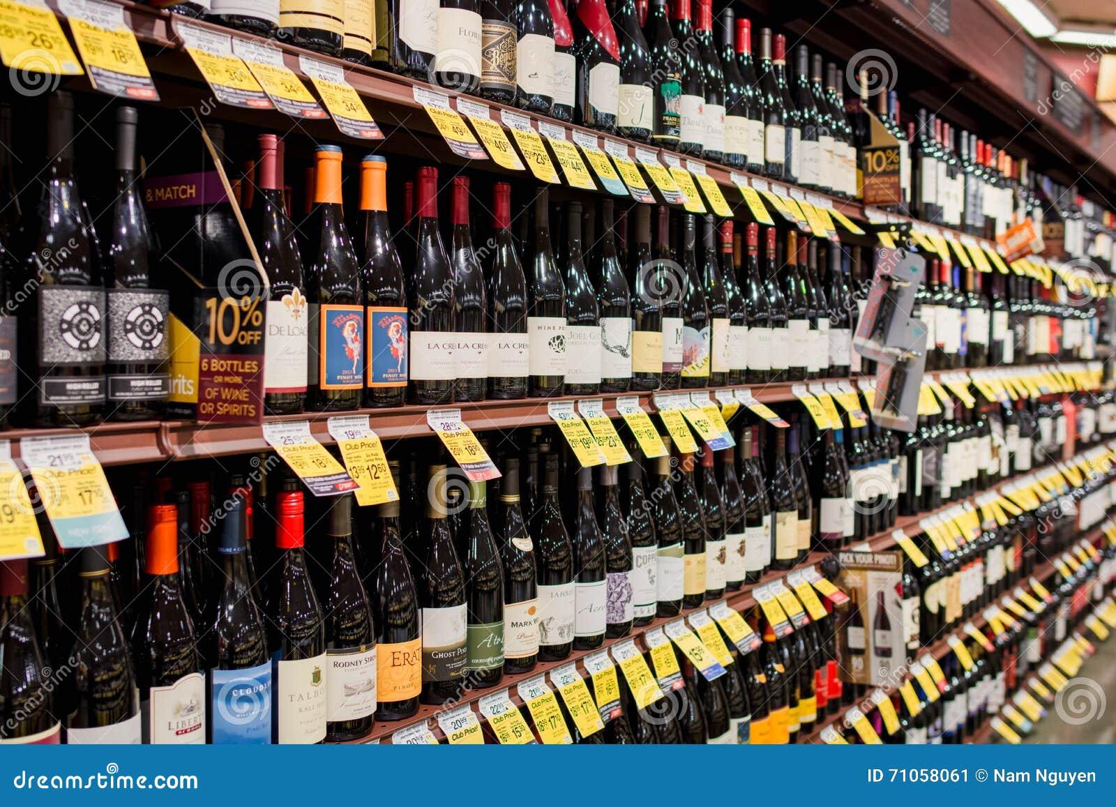 Wino nawa w Safeway